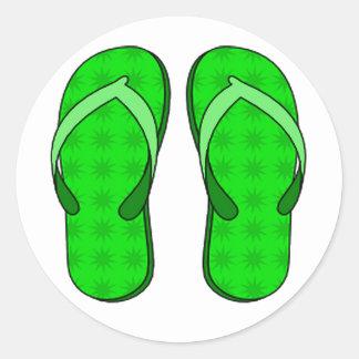 Green Flip Flop Stickers