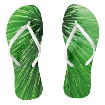 Beach Themed Green Flip Flops