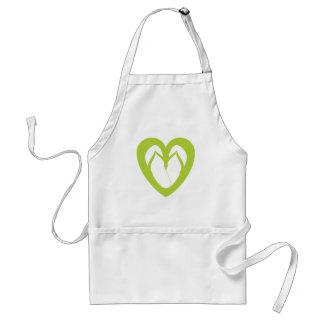 Green flip flops design 1 adult apron