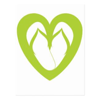 Green flip flops design 1 postcard