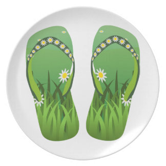 Green Flip-Flops/Thongs Plate