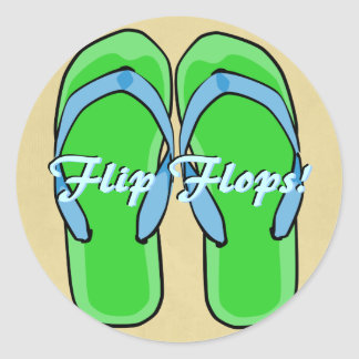 Green Flipflops Sticker