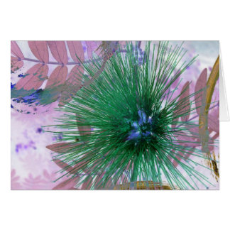 Green Floral Abstract Card