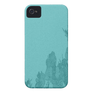 Green Floral Casemate for Blackberry Bold iPhone 4 Case