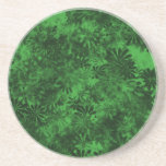 Green Floral Coasters