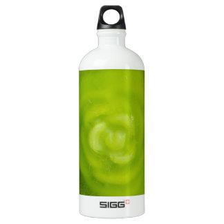 green floral decoration aluminum water bottle