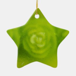 green floral decoration ceramic ornament