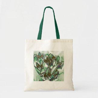 Green Floral Design Tote Bag