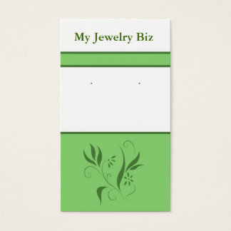 Green Floral Earring Cards