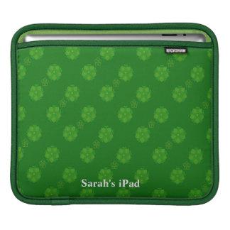 Green Floral iPad Sleeve