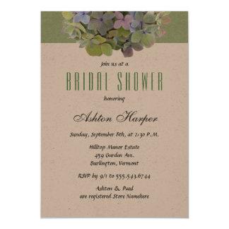 Green Floral Kraft Paper Bridal Shower Card
