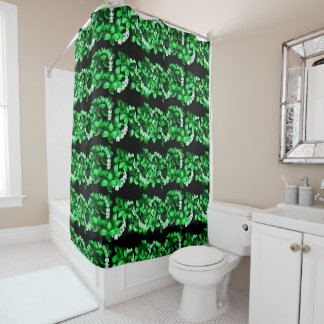 green floral lei printed Shower Curtain