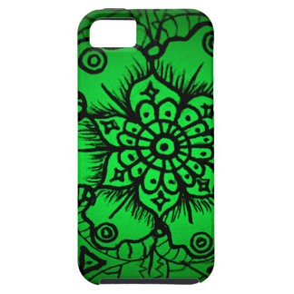 Green Floral Mandala Jr. iPhone SE/5/5s Case