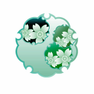 Green Floral Medallion Acrylic Cut Outs