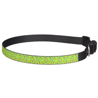 Green Floral mélange lime green pattern Pet Collar