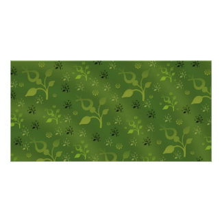 Green floral mix card