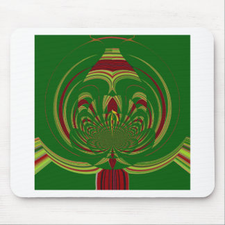 Green Floral. Modern Tribal Edgy design Mouse Pad