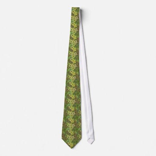 Green Floral Pattern Tie