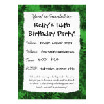 Green Floral Personalized Invitation
