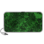 Green Floral Portable Speakers