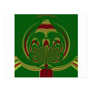 Green Floral Postcard