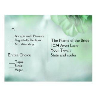 Green Floral RSVP Dinner Choices Postcard