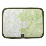 Green floral swirls Rickshaw folio Planners