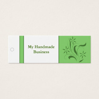 Green Floral Tag