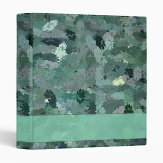 Green Floral Tapestry 3 Ring Binder