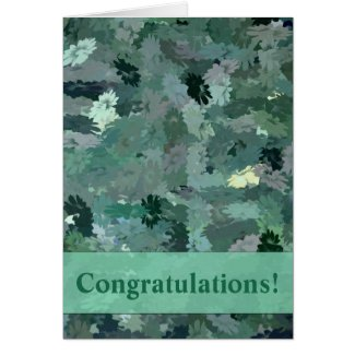 Green Floral Tapestry Card