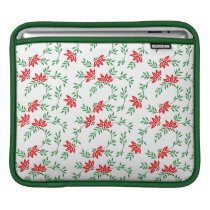 Green Floral Vines Pattern Sleeve For iPads
