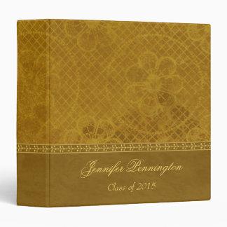 Green floral vintage graduation memory book binder