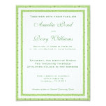 "Green Floral Wedding Invitation 4.25"" X 5.5"" Invitation Card"