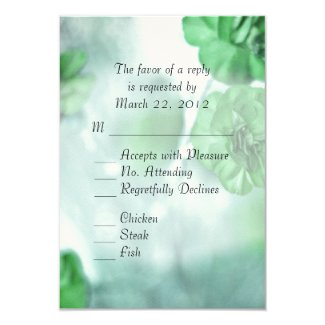 Green Floral Wedding Personalized Announcement