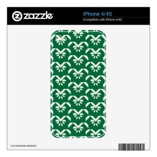 Green floral zigzag iPhone 4S decals