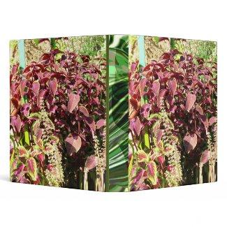 Green Florals - World Herbal Plant Forum binder