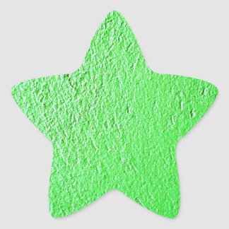 Green Florescent Design Style Fashion Star Sticker