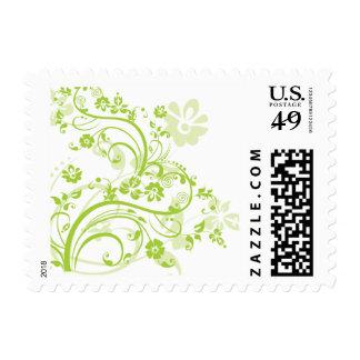Green Flourish Postage Stamps