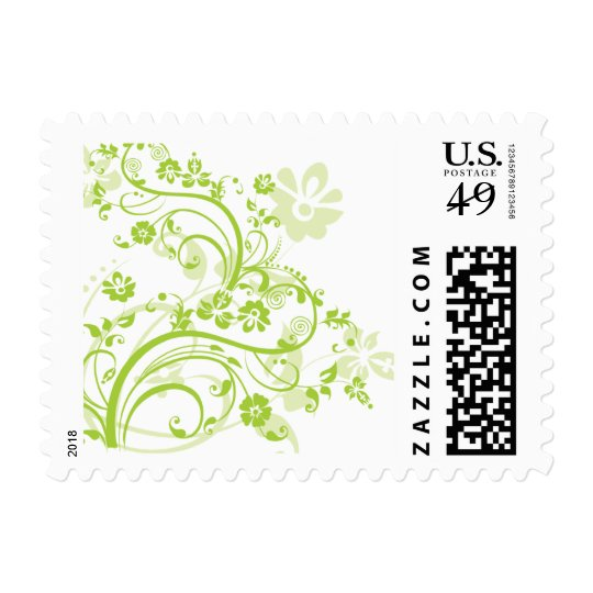 Green Flourish Postage Stamps