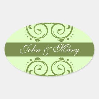 Green Flourish Stickers