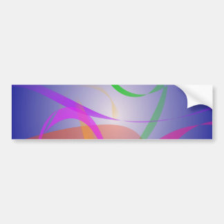 Green Flower Abstract Image Bumper Stickers