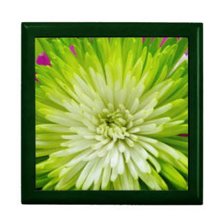 Green flower blossom giftbox keepsake box