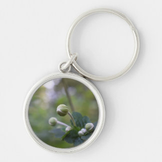 Green Flower Bud Garden Nature Photography Floral Keychain