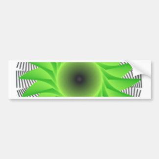 green flower bumper sticker