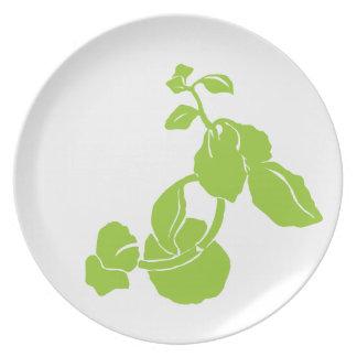 Green Flower Custom Plate