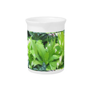 Green Flower Garden : Elegant Spring Blossom Beverage Pitcher