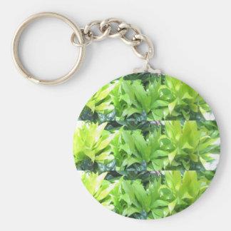 Green Flower Garden Elegant Spring Blossom Keychain