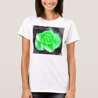 Green Flower Head with Dark Background (2) T-Shirt