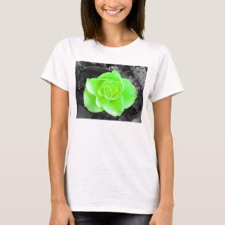 Green Flower Head with Dark Background T-Shirt