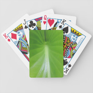 Green flower leaf Poker Playing Card Bicycle Playing Cards